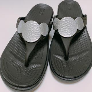 crocs - [SALE]クロックス サンラ エンベリッシュド ウェッジ フリップ