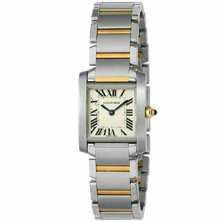 Cartier - カルティエ Cartier 腕時計 タンクフランセーズ W51007Q4ホワイト