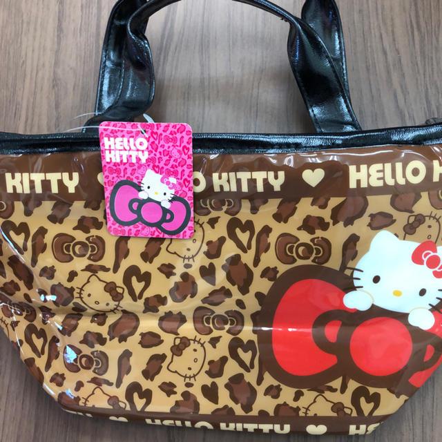 ハローキティ(ハローキティ)の2013年 新品 ハローキティ 保冷バッグ豹柄 サンリオ レディースのバッグ(トートバッグ)の商品写真