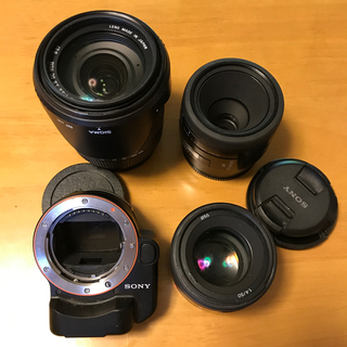 SONY - 美品!SONY LA-EA4 と 50mm f1.4のセット