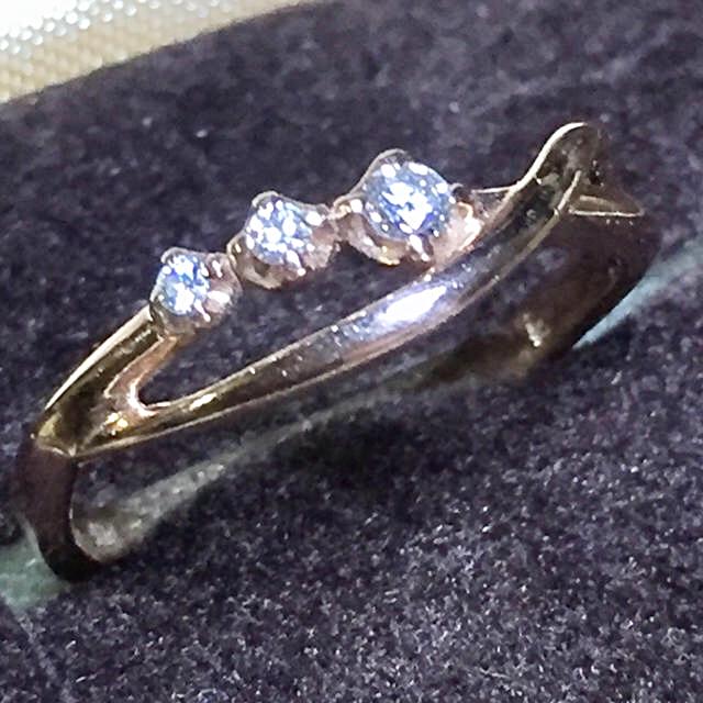 kumikyoku(組曲)(クミキョク)の組曲 ⭐︎ K10 天然 ダイヤモンド ⭐︎9号 レディースのアクセサリー(リング(指輪))の商品写真