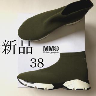 マルタンマルジェラ(Maison Martin Margiela)の新品./38 MM6 マルタン マルジェラ ソックス スニーカー カーキグリーン(スニーカー)