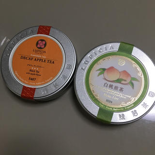LUPICIA - ルピシアの白桃煎茶とカフェインレスのアップルティの2缶セット☆新品