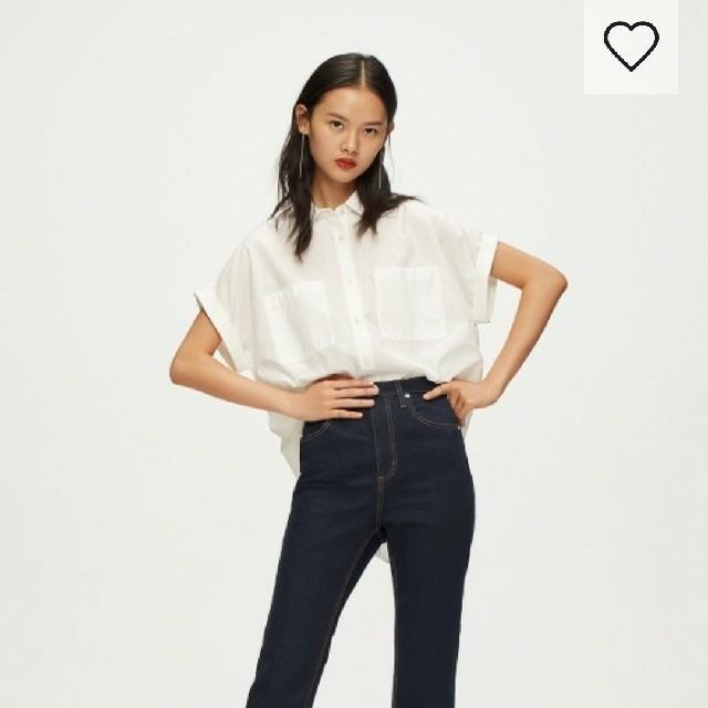 GU(ジーユー)のGU ダブルポケットシャツ 半袖 レディースのトップス(シャツ/ブラウス(半袖/袖なし))の商品写真
