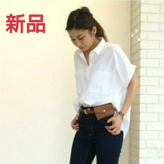 ジーユー(GU)のGU ダブルポケットシャツ 半袖(シャツ/ブラウス(半袖/袖なし))