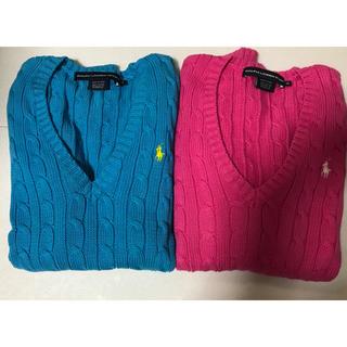 Ralph Lauren - ラルフローレン XS 綿100セーター 2点セット