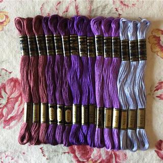 オリンパス(OLYMPUS)のココララ様専用   OLYMPUS 綿100% 刺繍糸 15本 (紫系のセット)(生地/糸)
