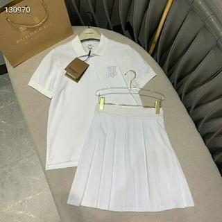 バーバリー(BURBERRY)のBurberry半袖スカート美品大人気2点セット白(スーツ)