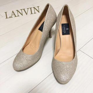 LANVIN COLLECTION - 新品同様!ランバン 23.0 本革 日本製 ラメ パンプス