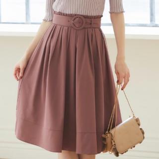 tocco - ベルト付きウエストプチフリル装飾フレアスカート