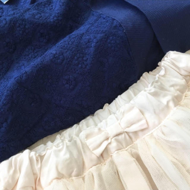 BREEZE(ブリーズ)の★新品セット★ブリーズ★チュニックとスカートの2点セット★90★ キッズ/ベビー/マタニティのキッズ服 女の子用(90cm~)(スカート)の商品写真