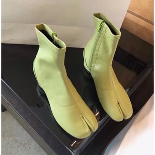 足袋 ショート ブーツ 無地 グリーン(ブーツ)