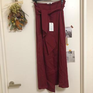 グレイル(GRL)のGRL ダークレッドスカート(ロングスカート)
