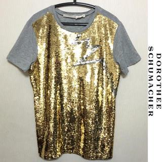 ドゥーズィエムクラス(DEUXIEME CLASSE)のドロシーシューマッハ Tシャツ SCHUMACHER カットソー スパンコール(Tシャツ(半袖/袖なし))