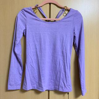 [タイムセール]紫トップス♡(Tシャツ(半袖/袖なし))