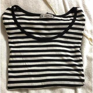 ボーダーインナーシャツ(Tシャツ(長袖/七分))