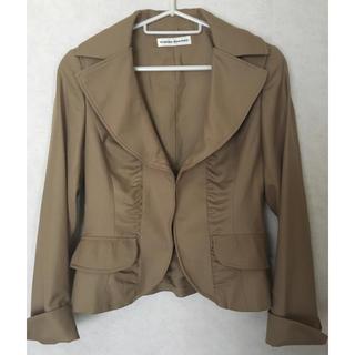ヒロココシノ(HIROKO KOSHINO)のヒロココシノのジャケット ベージュ(テーラードジャケット)