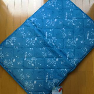スヌーピー(SNOOPY)の新品☆ スヌーピー   冷感 ごろ寝マット 70×100 ブルー(ベビー布団)