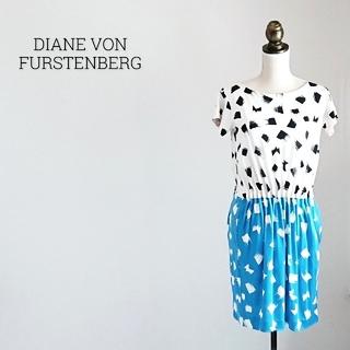 ダイアンフォンファステンバーグ(DIANE von FURSTENBERG)のDIANE VON FURSTENBERG 半袖ワンピース(ひざ丈ワンピース)
