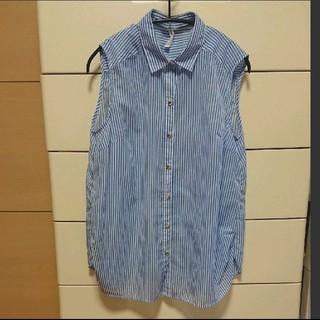 ストライプノースリーブシャツ(シャツ/ブラウス(半袖/袖なし))