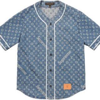 ルイヴィトン(LOUIS VUITTON)のSupreme Louis Vuitton ベースボールシャツ (シャツ)