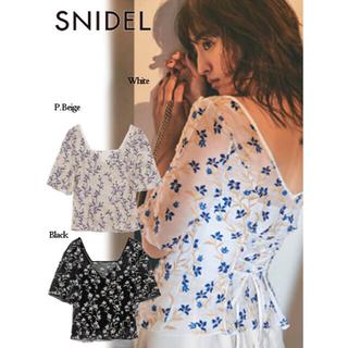 snidel - 新品タグ付き♡エンブロイダリー シアーブラウス