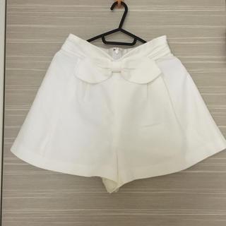 リランドチュール(Rirandture)のRirandture♡リボンショートパンツ♡ホワイト(ショートパンツ)