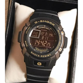 ジーショック(G-SHOCK)の売約済み☆美品☆ 腕時計 G-SHOCK 3095 G-7110-1JF 黒金(腕時計(デジタル))