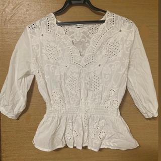 韓国ファッション ブラウス 白