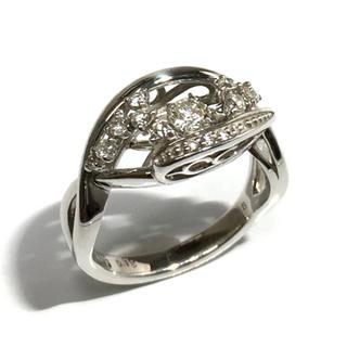 クロスフォー(Crossfor)の18金 K18 ホワイトゴールド ダイヤ ダイヤモンド リング 指輪 ダンシング(リング(指輪))