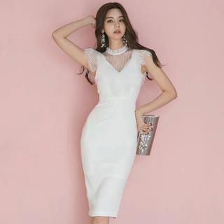デイジーストア(dazzy store)のキャバドレス レースドレス ワンピース 二次会ワンピース(ミディアムドレス)