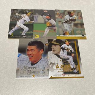 ハンシンタイガース(阪神タイガース)のBBM 阪神タイガース 銀箔サインカード&キラカード5枚セット(シングルカード)