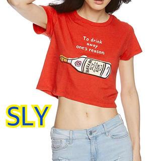 スライ(SLY)の新品・タグ付【SLY】NAIJEL GRAPH RUM CROPPED トップス(Tシャツ(半袖/袖なし))