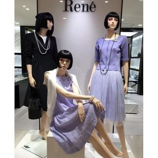 René - 新品2019今期Reneルネカタログ掲載リネンギンガムチェックワンピース②