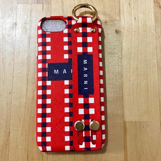 マルニ(Marni)のiphone7/iphone8ケース レッド 即日発送(iPhoneケース)