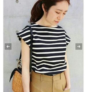 IENA - IENA ボーダーフレンチスリーブTシャツ