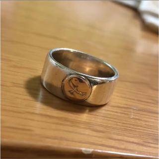 シルバーリング 指輪 イーグル k10 タタキ 平打ち(リング(指輪))