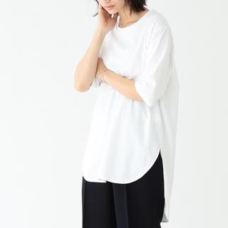 Demi-Luxe BEAMS - 新品タグ付◇19SS◇ATON スビン ラウンドヘム Tシャツ ホワイト
