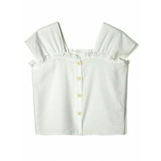 GRL - 【完売品】新作  GRL  フロントリボンフリルトップス  ホワイト