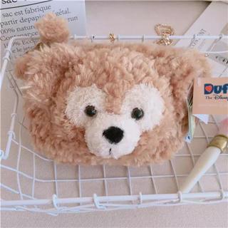 ダッフィー - 日本未発売 ダッフィー チェーン付き ショルダーバッグ 化粧ポーチ 小物入れ