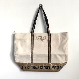 ヴィクトリアズシークレット(Victoria's Secret)の【新品】 ヴィクトリアシークレット トートバッグ ゴールド グリッター ジップ付(トートバッグ)