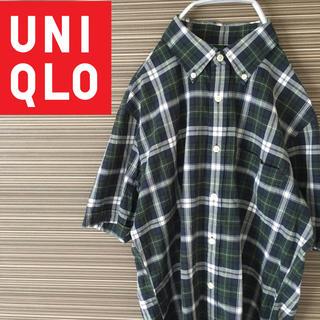 ユニクロ(UNIQLO)のユニクロ チェックシャツ 古着 UNIQLO 半袖シャツ Mサイズ(シャツ)