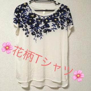 しまむら - しまむら  花柄Tシャツ