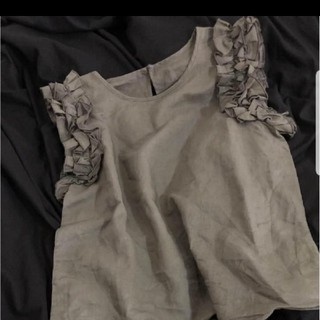 カプリシューレマージュ(CAPRICIEUX LE'MAGE)の新品 カプリシューレマージュ フリル ノースリーブ(シャツ/ブラウス(半袖/袖なし))
