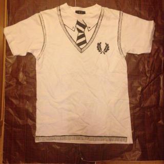 フレッドペリー(FRED PERRY)のFRED PERRY Tシャツ 36 ホワイト セーラー プリント(Tシャツ/カットソー(半袖/袖なし))