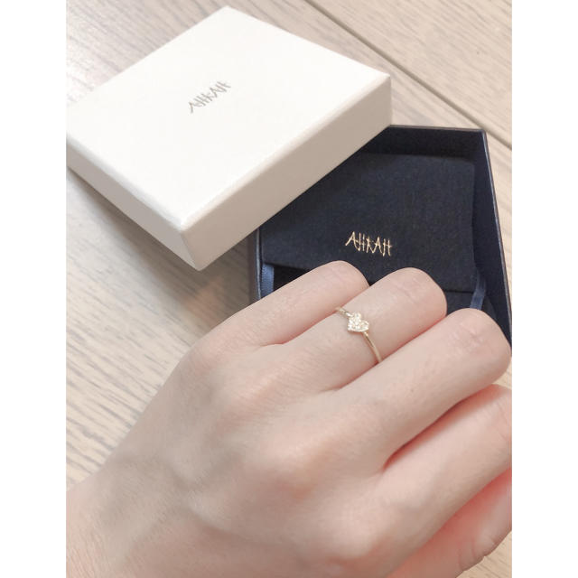 AHKAH(アーカー)のアーカー ハートパヴェダイヤリング  レディースのアクセサリー(リング(指輪))の商品写真