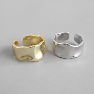 Ameri VINTAGE - #40   silver925 いびつデザイン リング ◆シルバー◆