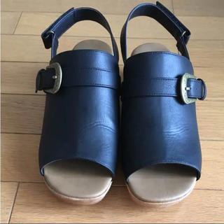 スタディオクリップ(STUDIO CLIP)の最終お値下げ 新品未使用 studio CLIP 黒 サンダル(サンダル)