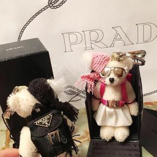 プラダ(PRADA)のPRADA プラダ ベアチャーム リュック レア ピンク(キーホルダー)