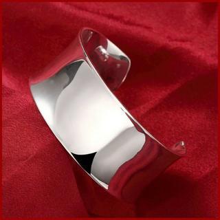 トゥデイフル(TODAYFUL)のシルバー ワイド バングル シンプル 太い ブレスレット silver 925 (ブレスレット/バングル)